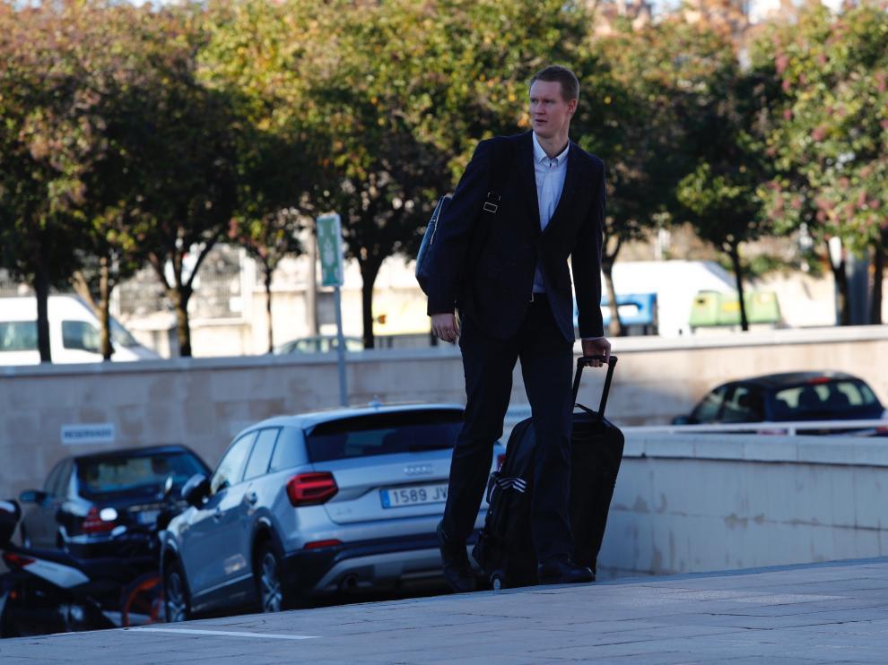 Robin Benzin, a su salida del Príncipe Felipe para partir hacia Grecia.
