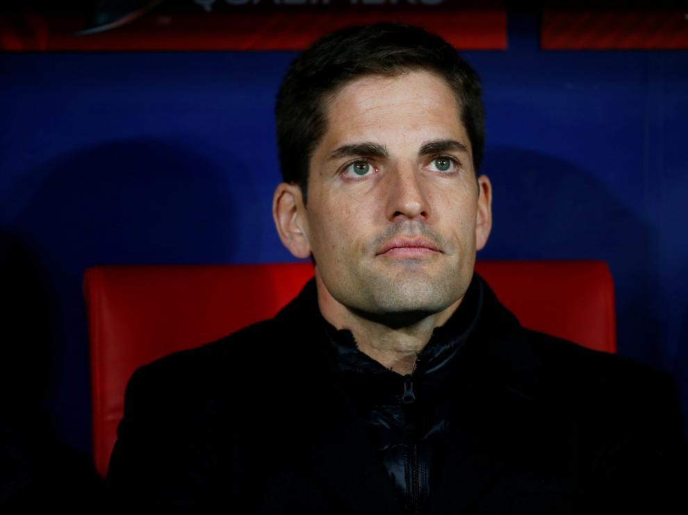 Robert Moreno, en el partido entre España y Rumanía, el último que dirigió con la selección española