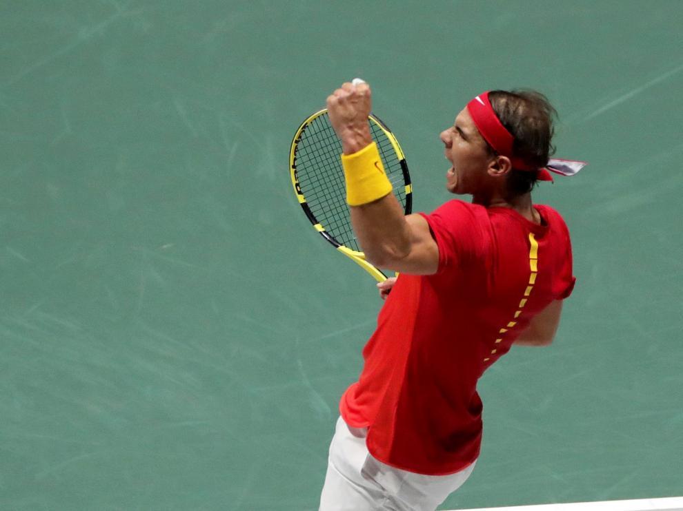 Segunda jornada de la Copa Davis que se disputa en la Caja Mágica de Madrid entre España y Rusia