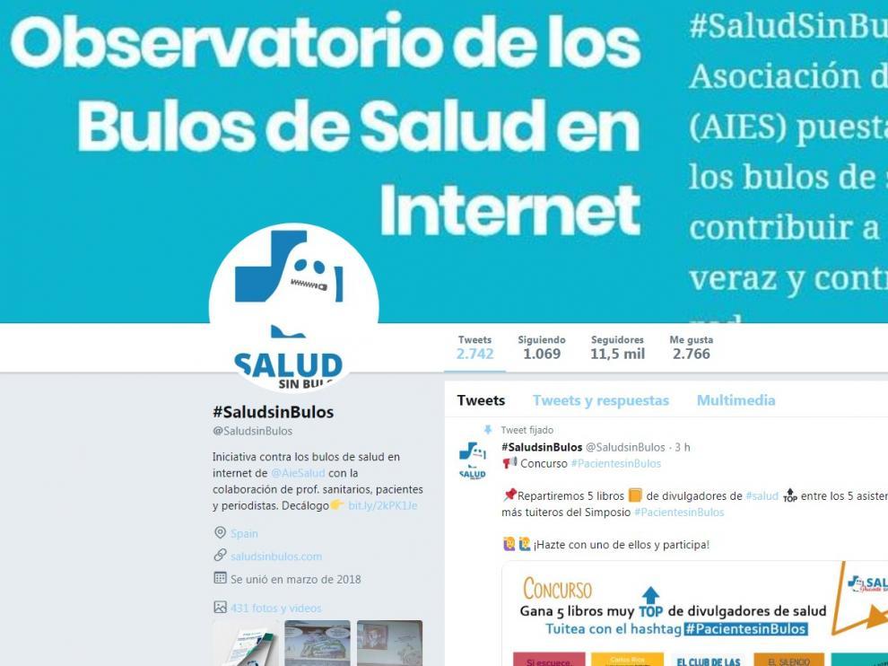 Una imagen de la iniciativa #SaludSinBulos.