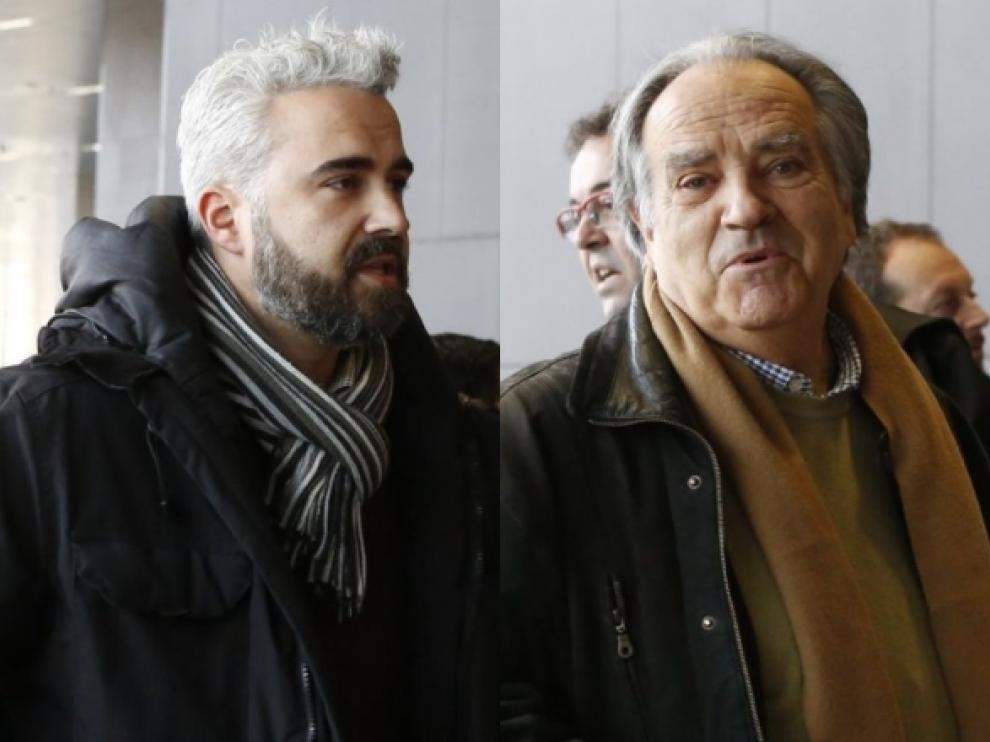 Rubén Alcaine y Óscar Fle se han visto las caras este miércoles en el juzgado.