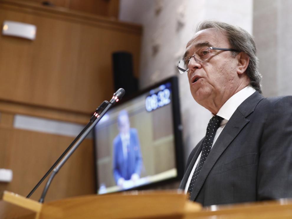 Carlos Pérez Anadón, este miércoles en el pleno de las Cortes