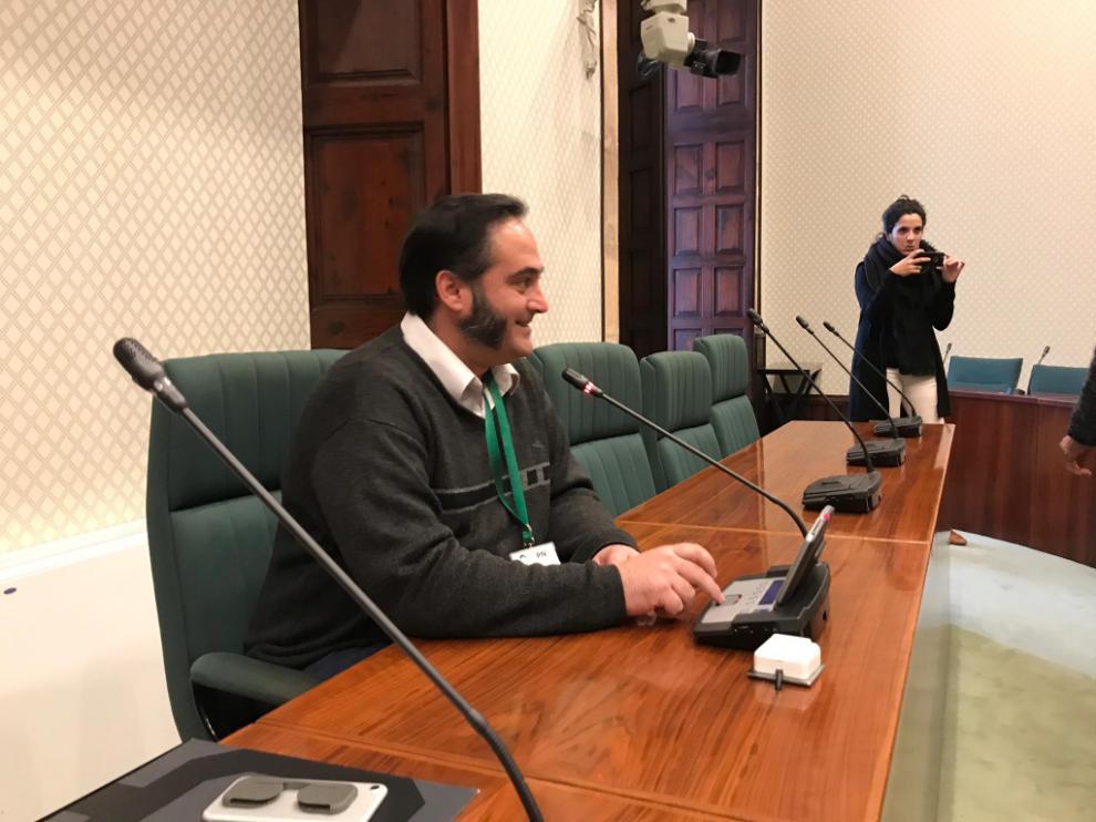 Felip Segura recibió el pasado lunes en el Parlament de Cataluña el apoyo de los grupos independentistas antes de viajar a Teruel para declarar