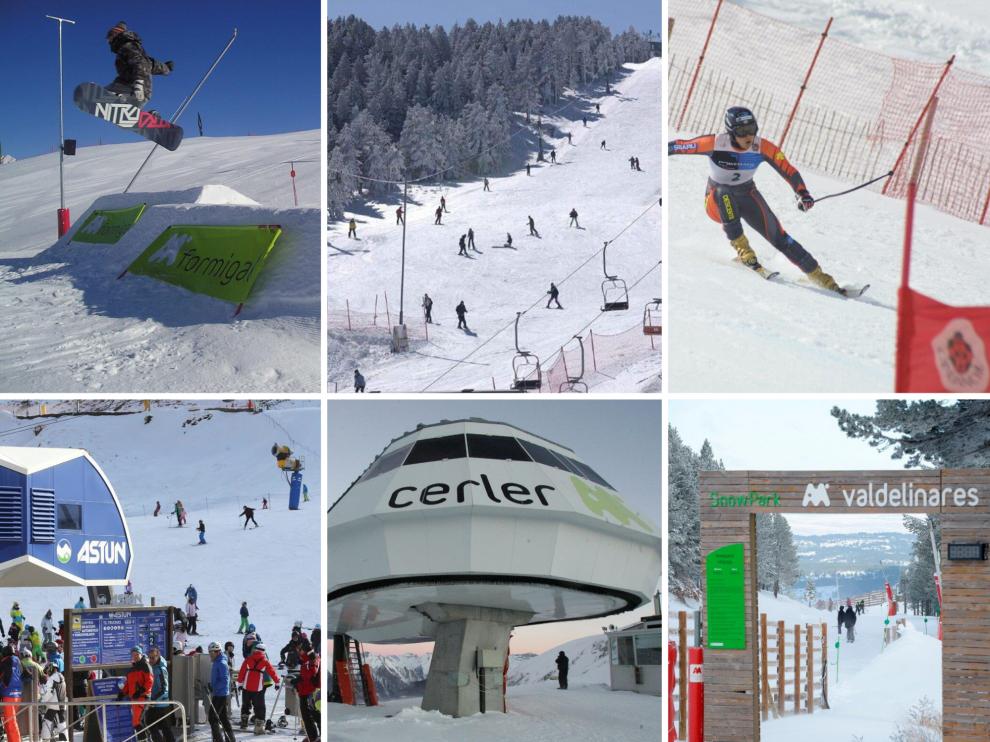 Las estaciones de esquí de Candanchú, Astún, Formigal, Panticosa, Astún, Cerler, Javalambre y Valdelinares