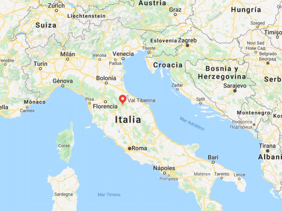 El convento está en  en Valtiberina (Toscana, centro)