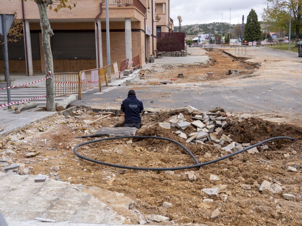 Obras de eliminacion de arbolado en el barrio de la fuenfresca de Teruel.Foto Antonio Garcia/bykofoto. 22/11/19 [[[FOTOGRAFOS]]]