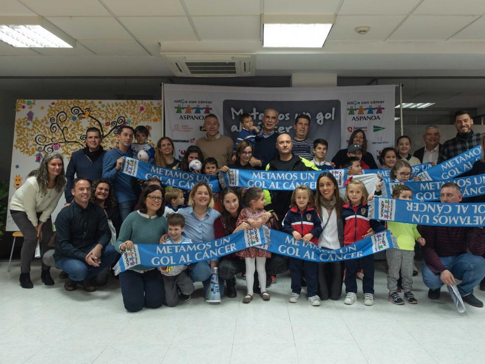Visita a Aspanoa del Real Zaragoza.