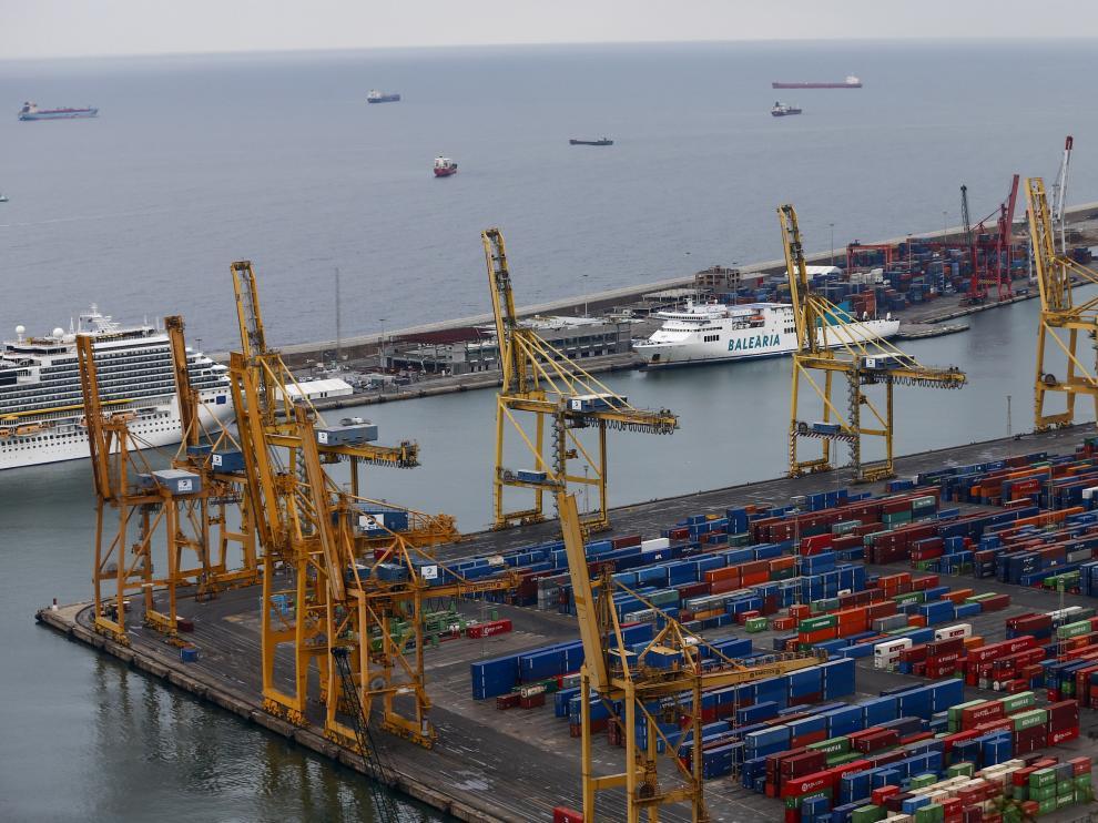 Imagen del puerto de Barcelona.