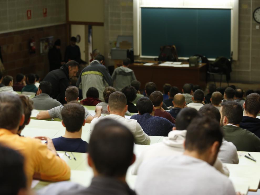 Oposiciones en Zaragoza para 62 plazas de bomberos, que atraen a 646 aspirantes