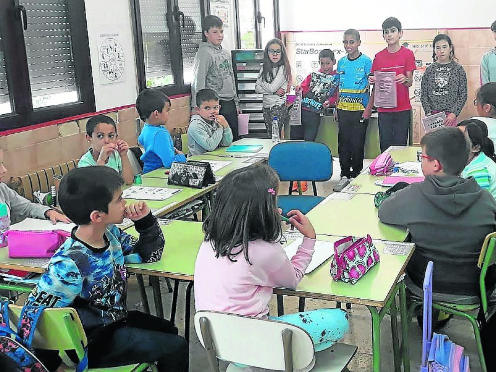 Imagen del colegio, que pertenece al CRA Somontano.