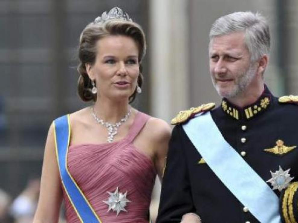 Felipe de Bélgica y su esposa, Matilde.
