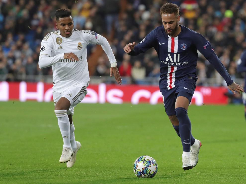 Acción del partido Real Madrid Paris Saint Germain