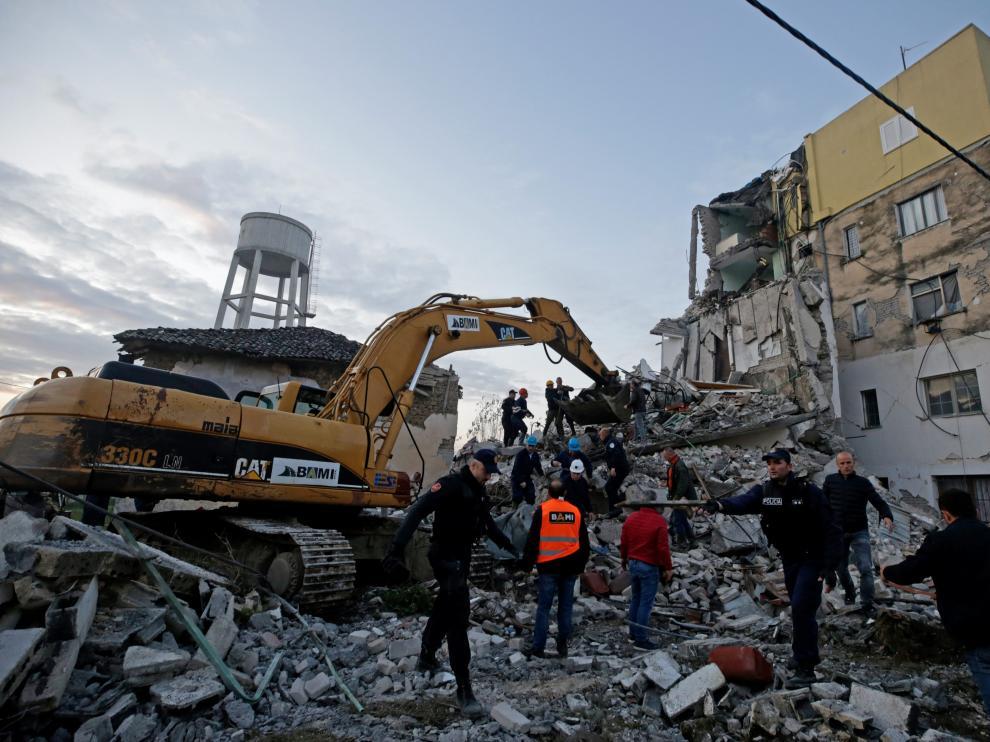 El terremoto ha provocado que muchos edificios se derrumbaran