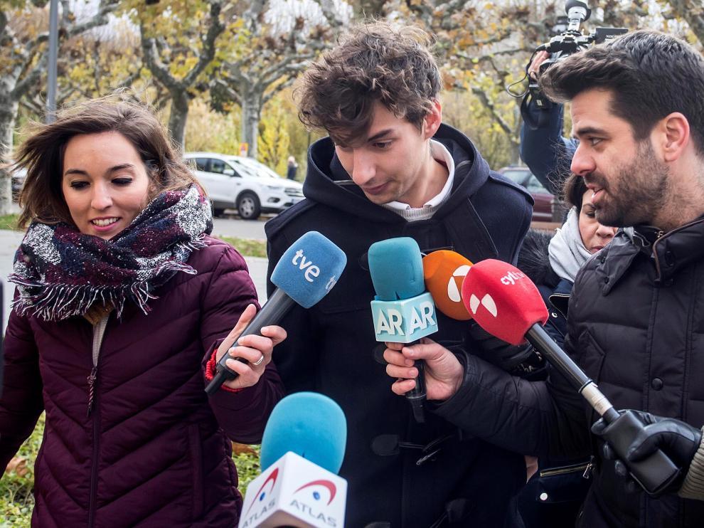 Carlos Cuadrado antes de entrar a la Audiencia Provincial de Burgos este miércoles.