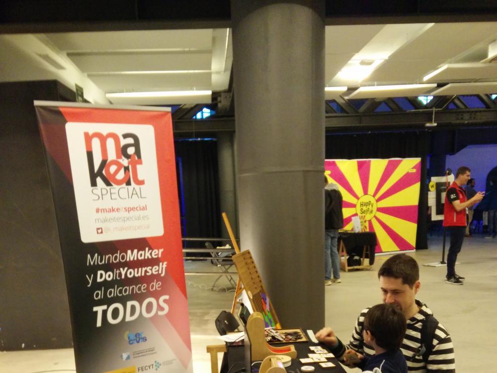 Stand de Make It Special en la feria maker de Bilbao.