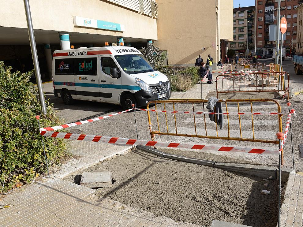 Algunas de las obras se están llevando a cabo en el entorno del hospital.
