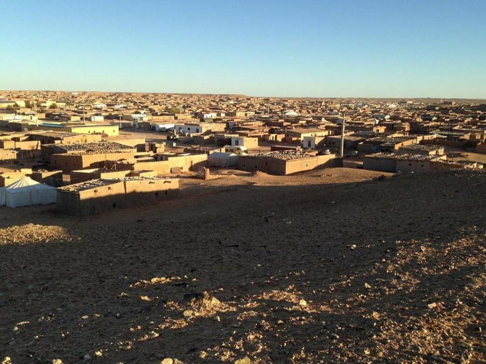 Campamento de refugiados saharauis.