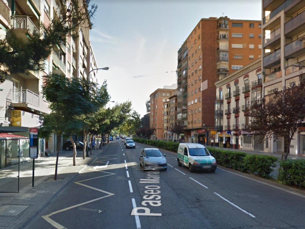 Los portales de los números pares del tramo del paseo María Agustín, entre las calles Conde Aranda y María Curie se verán afectados.