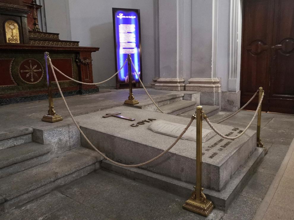 Aspecto actual de la tumba de Goya en la ermita de San Antonio de la Florida