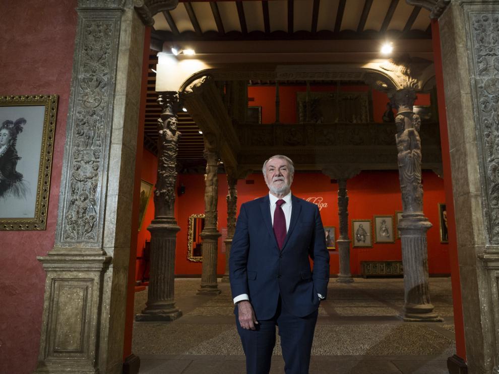 Jaime Mayor Oreja, exministro de Interior del Gobierno del PP (1996-2000), ayer en el Patio de la Infanta, donde dio un conferencia sobre 'La crisis de la verdad'.