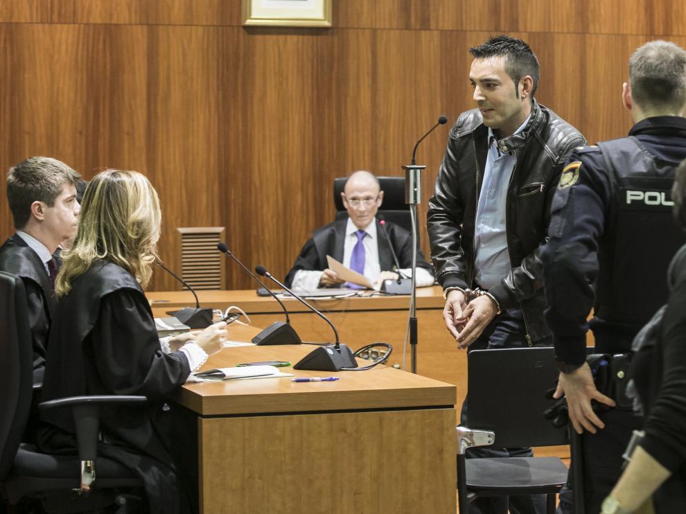 El acusado, tras conocer el veredicto del jurado.