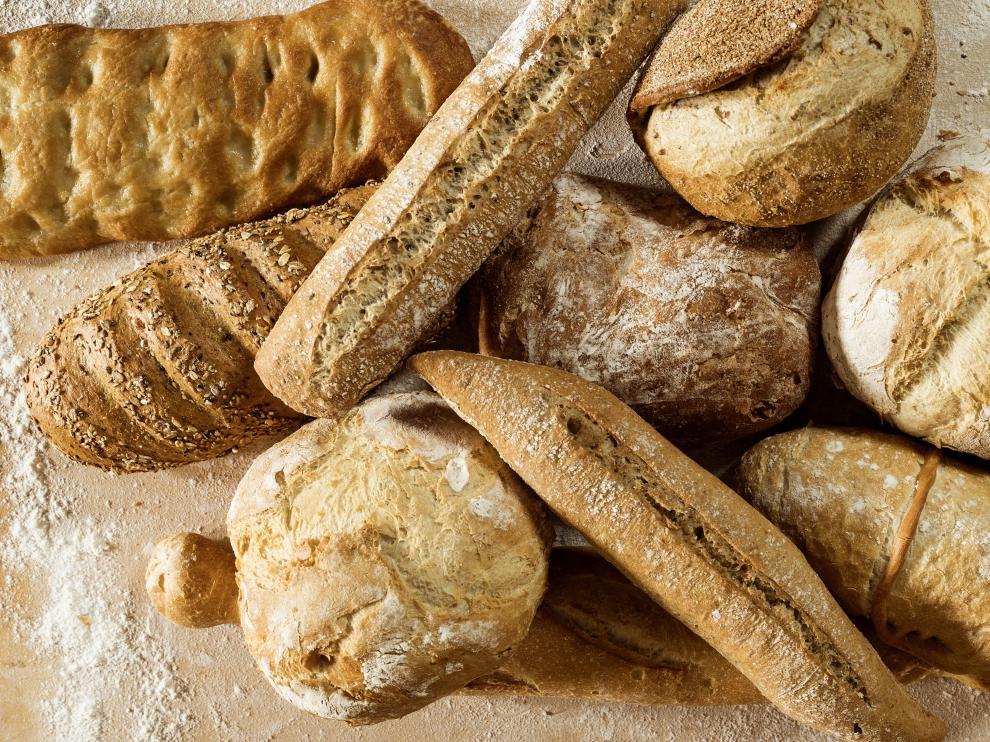 Variedades de panes sin aditivos.