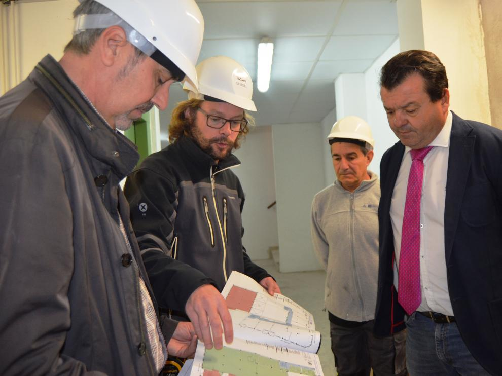 Taller de empleo de albañilería en Zuera.