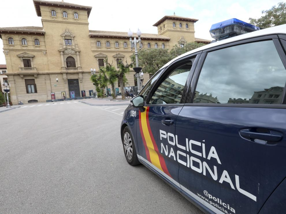 Patrulla de la Policia Nacional en Huesca / 24-5-19 / Foto Rafael Gobantes [[[FOTOGRAFOS]]]