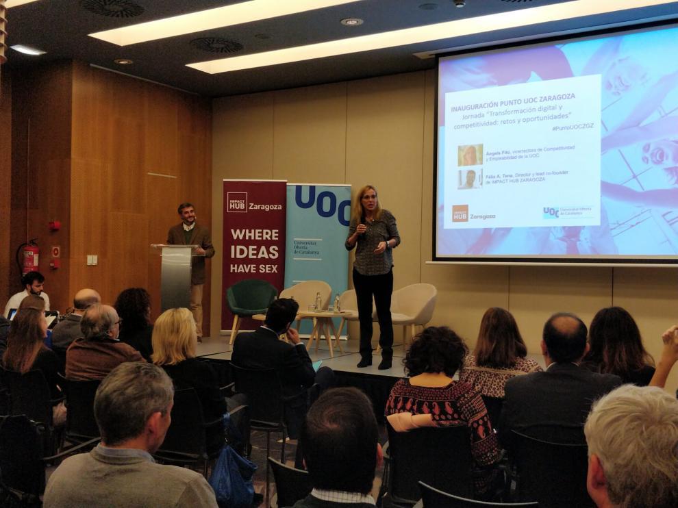 Acto inaugural de la UOC en Aragón