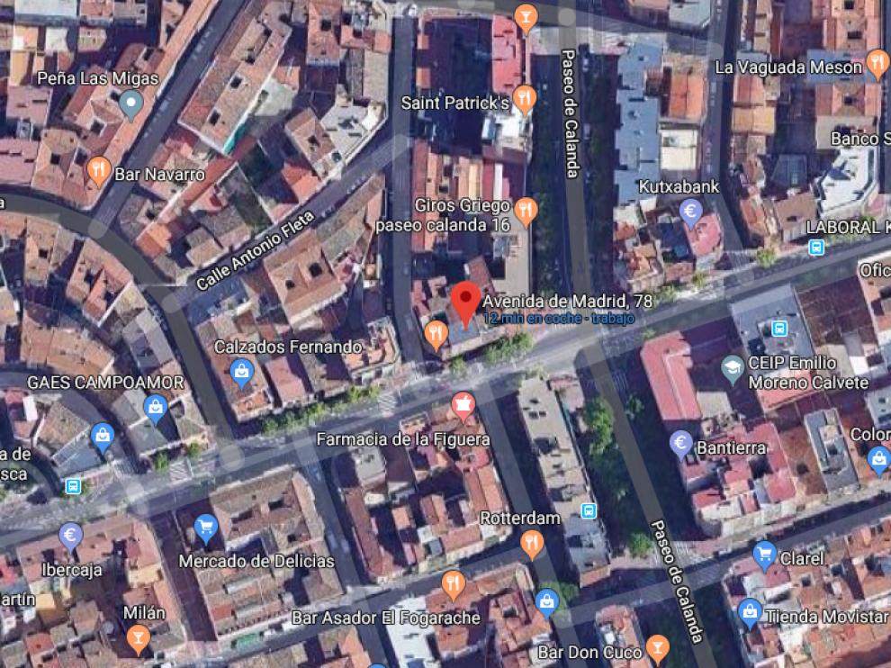 El atropello se ha producido en la avenida de Madrid, junto al paseo de Calanda.