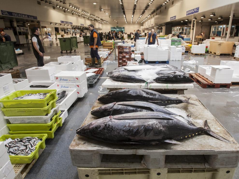 La venta de pescado en Mercazaragoza ha caído en los diez últimos años.