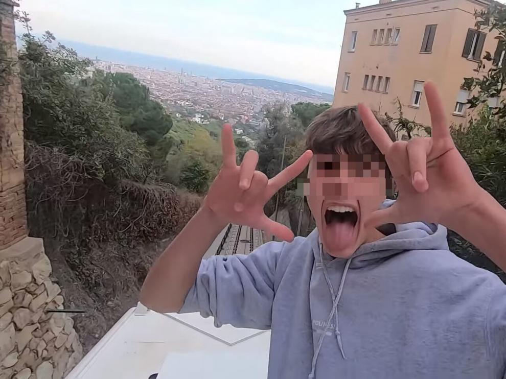 Captura del vídeo que subieron a Youtube