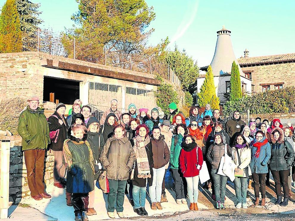 Participantes en el curso avanzado del IAMZ en el municipio de Artieda.