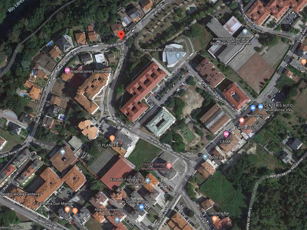 Barrio de Monte Porreiro, en Pontevedra, donde ocurrieron los hechos.