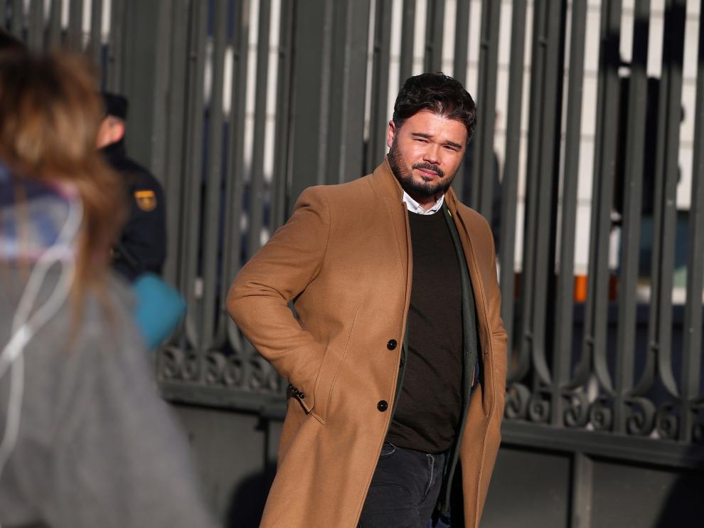 Gabriel Rufián, de ERC, a su llegada a las Cortes