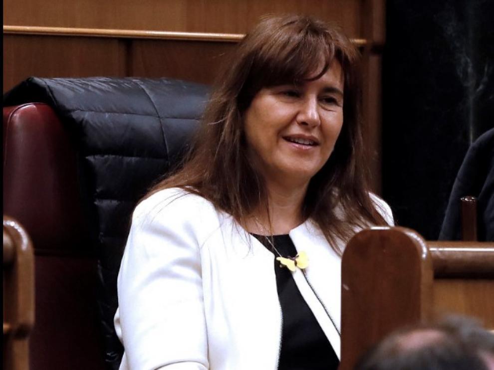 La diputada de JxCat Laura Borràs, este martes en el Congreso, donde ha tomado posesión de su acta