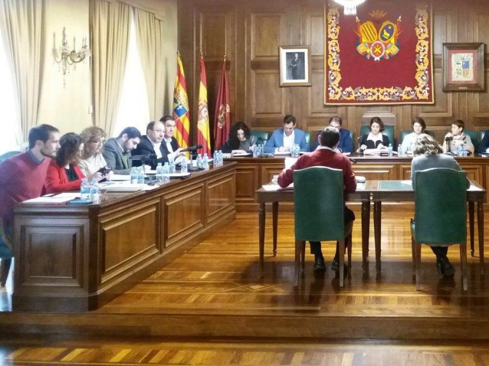 Imagen del último pleno del Ayuntamiento de Teruel.