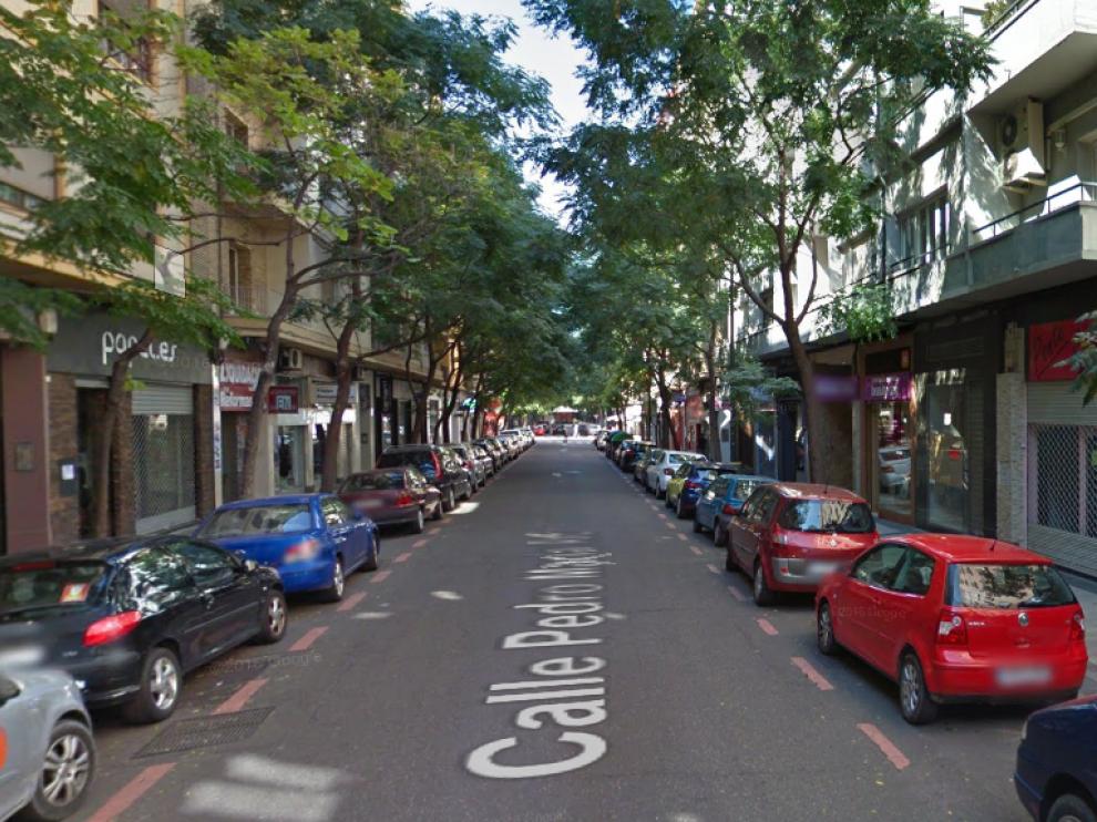 Calle Pedro María Ric en Zaragoza.