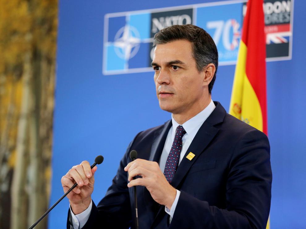 Sánchez en la cumbre de la OTAN este miércoles.