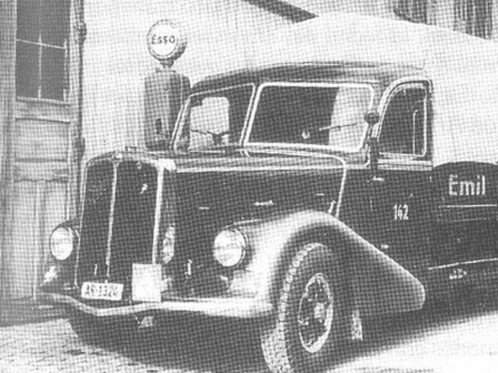 Camión suizo de la empresa Saurer que trasladó el oro nazi a Madrid y Lisboa