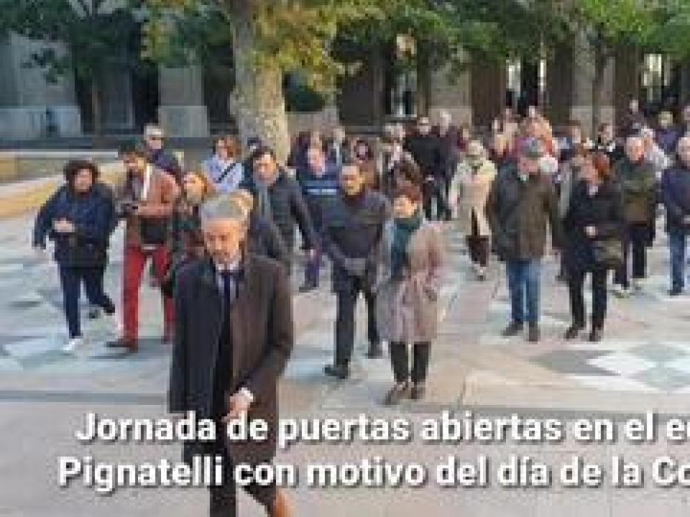Las puertas del principal edificio del Gobierno de Aragón se abren a los ciudadanos con motivo de la conmemoración del 41 aniversario de la Constitución española.
