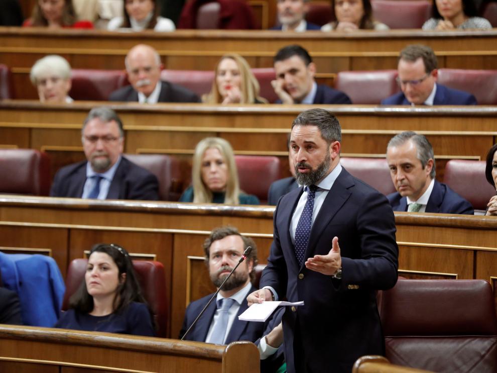 Abascal en el Congreso de los Diputados.