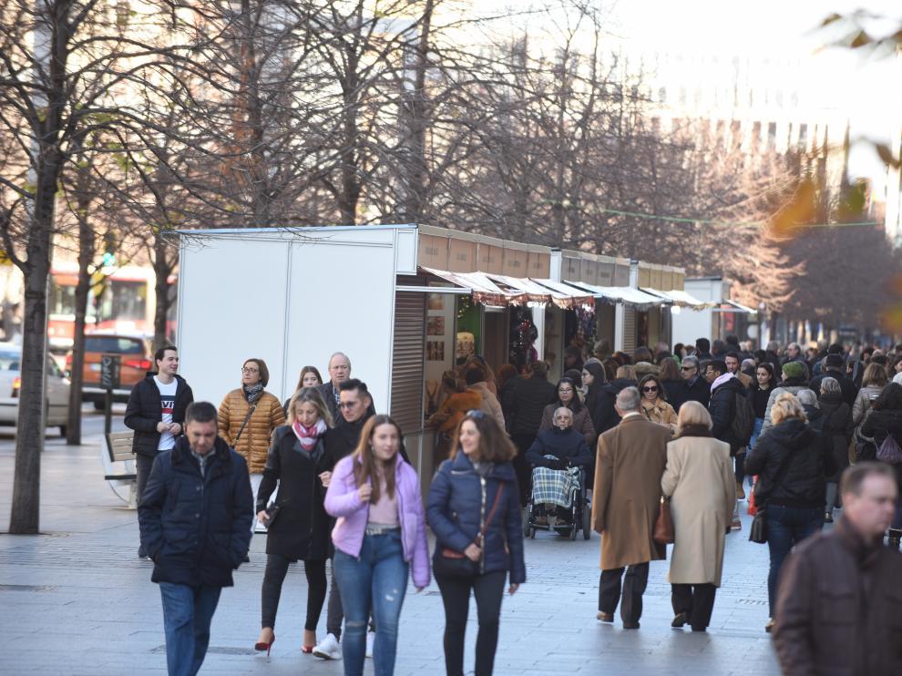 Mercadillo de Navidad de plaza de Aragón y del paseo de la Independencia.