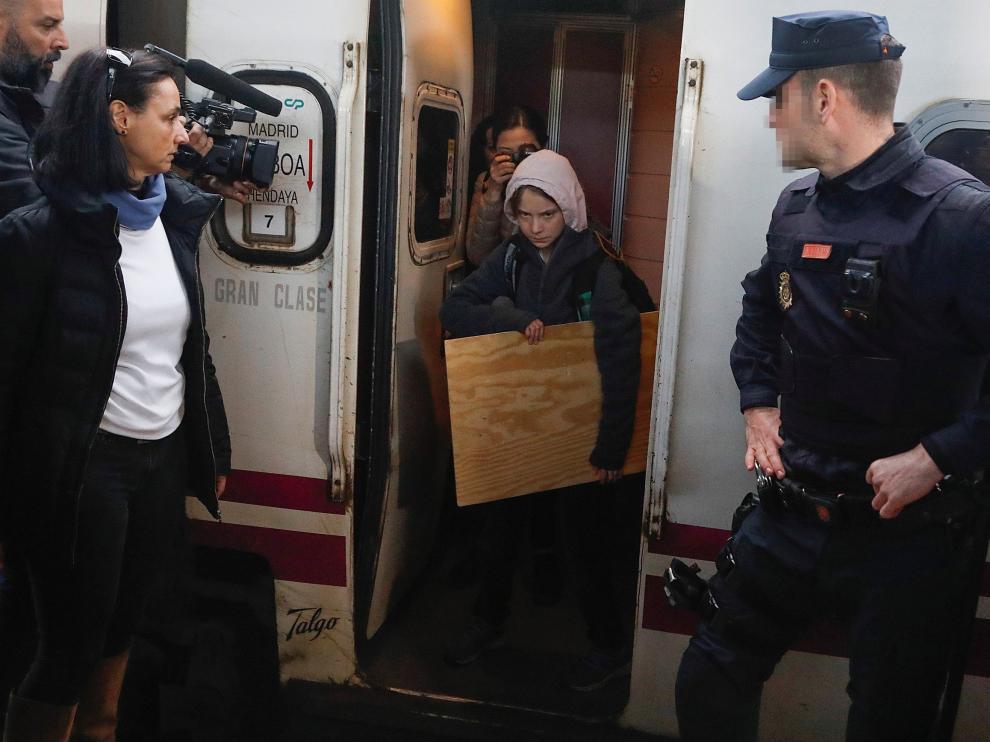Greta Thunberg llega a Madrid.