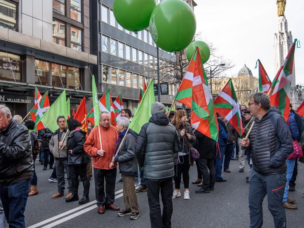 Manifestación en Bilbao el Día de la Constitución.