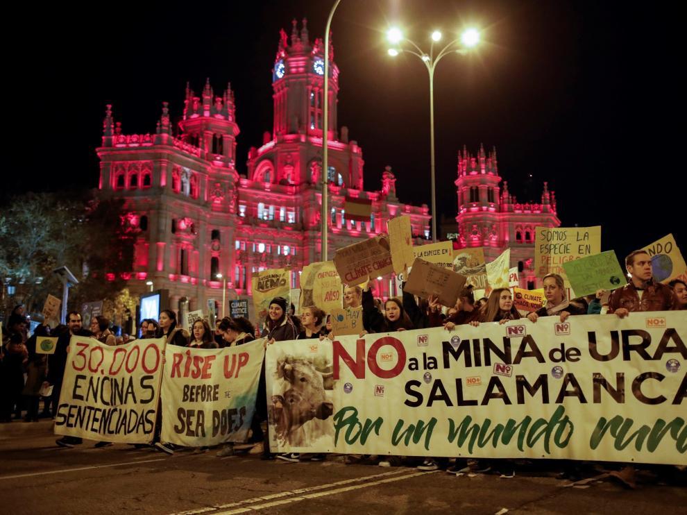 Marcha por el clíma en Madrid.