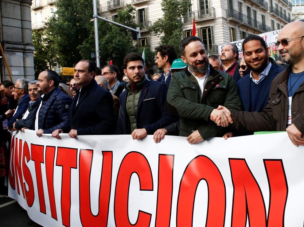Marcha por el día de la Constitución en Barcelona