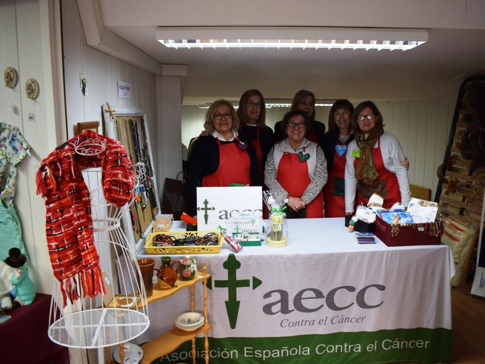 "Las voluntarias de la AECC en ""Casa David""."