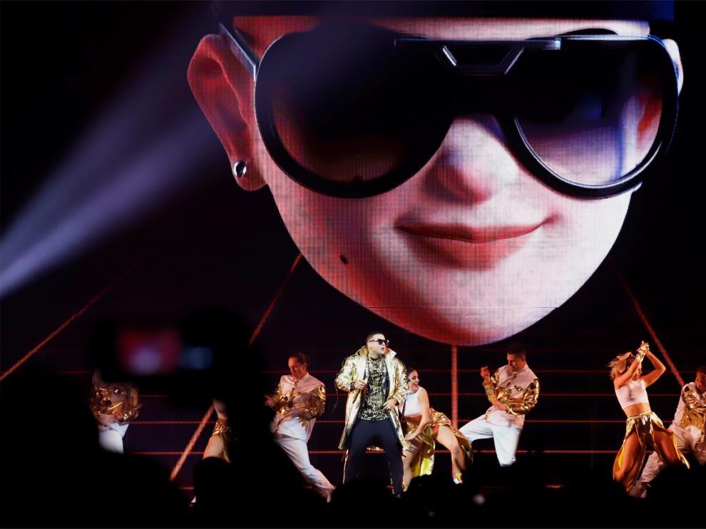 El reguetonero puertorriqueño Daddy Yankee en el primero de sus diez conciertos, el jueves en el Coliseo de San Juan en Puerto Rico.