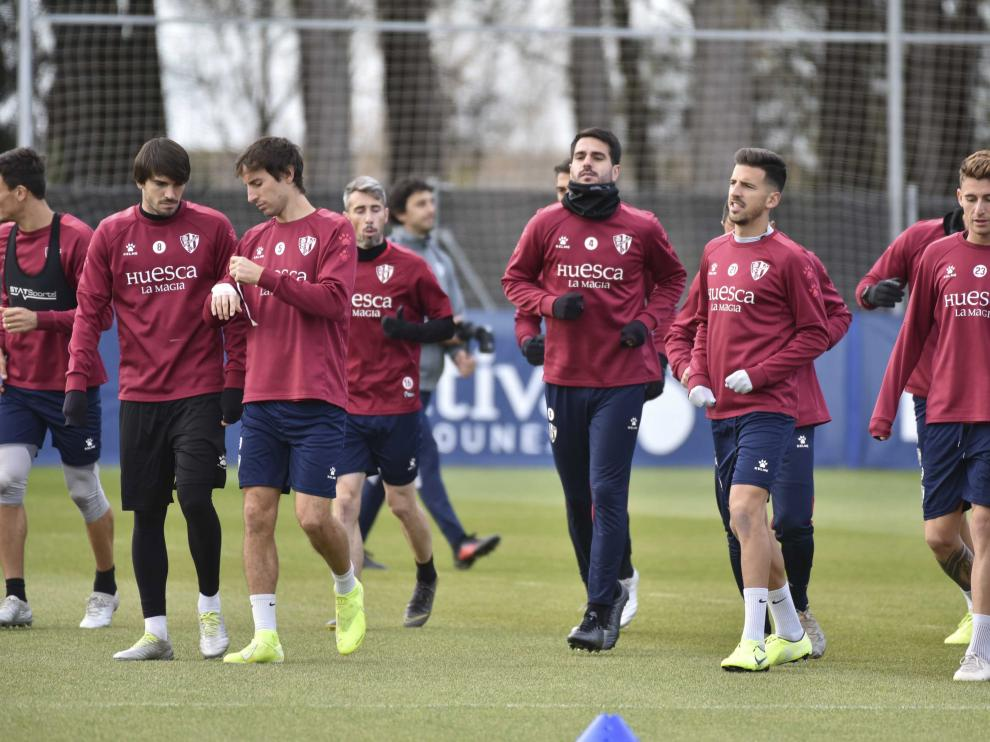La SD Huesca ha vuelto este martes al trabajo.